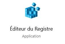 Editeur de registre