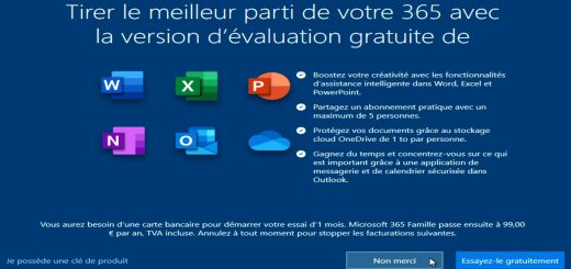 Panneau d'info Windows10